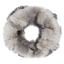 Buy Reiss Faux Fur Snood, Snow/Grey Online at johnlewis.com