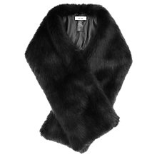 Buy Reiss Gypsy Faux Fur Scarf, Slate Online at johnlewis.com