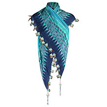 Buy East Ella Print Scarf, Blue Online at johnlewis.com