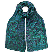 Buy East Nuria Print Scarf, Blue Online at johnlewis.com