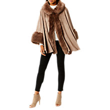 Buy Coast Bostock Faux Fur Cape, Neutrals Online at johnlewis.com