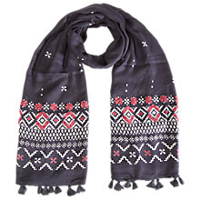 Buy White Stuff Mountain Trail Scarf, Smokey Grey Online at johnlewis.com