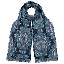 Buy East Double Face Safina Scarf, Blue Online at johnlewis.com