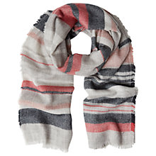Buy White Stuff Stripe Scarf, Natural Online at johnlewis.com