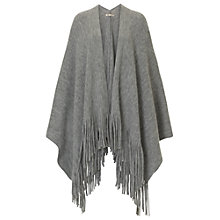 Buy Betty Barclay Knitted Poncho, Light Grey Melange Online at johnlewis.com