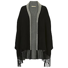 Buy Betty Barclay Reversible Poncho, Black/Grey Online at johnlewis.com
