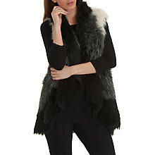Buy Betty Barclay Faux Fur Gilet, Cream/Black Online at johnlewis.com