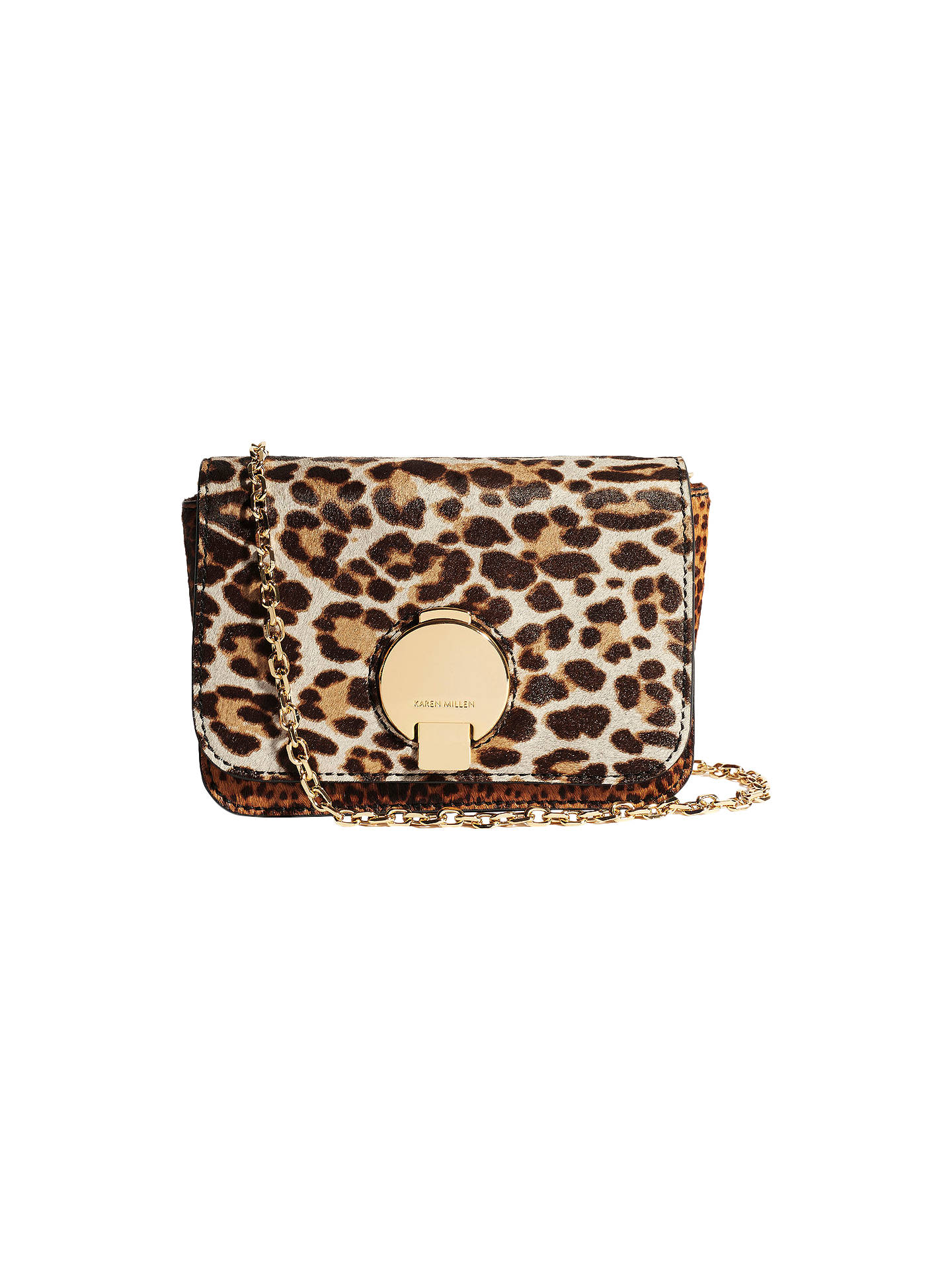 51e809197f5 Buy Karen Millen Leather Leopard Cross Body Bag, Multi Online at  johnlewis.com ...