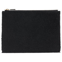Buy Whistles Shearling Leather Medium Clutch Bag, Black Online at johnlewis.com