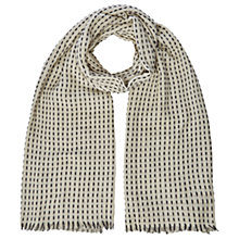 Buy White Stuff Rectangle Spirit Stitch Scarf, Neutral Online at johnlewis.com