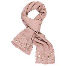 Buy Chesca Pearl Beaded Pashmina, Pink Online at johnlewis.com