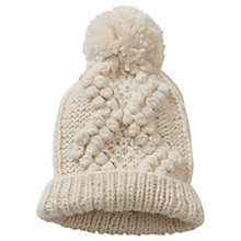 Buy Betty Barclay Knit Bobble Hat, One Size, Ivory Online at johnlewis.com