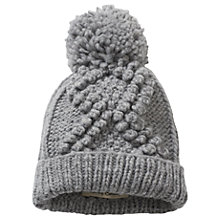 Buy Betty Barclay Knit Bobble Hat, One Size, Grey Melange Online at johnlewis.com