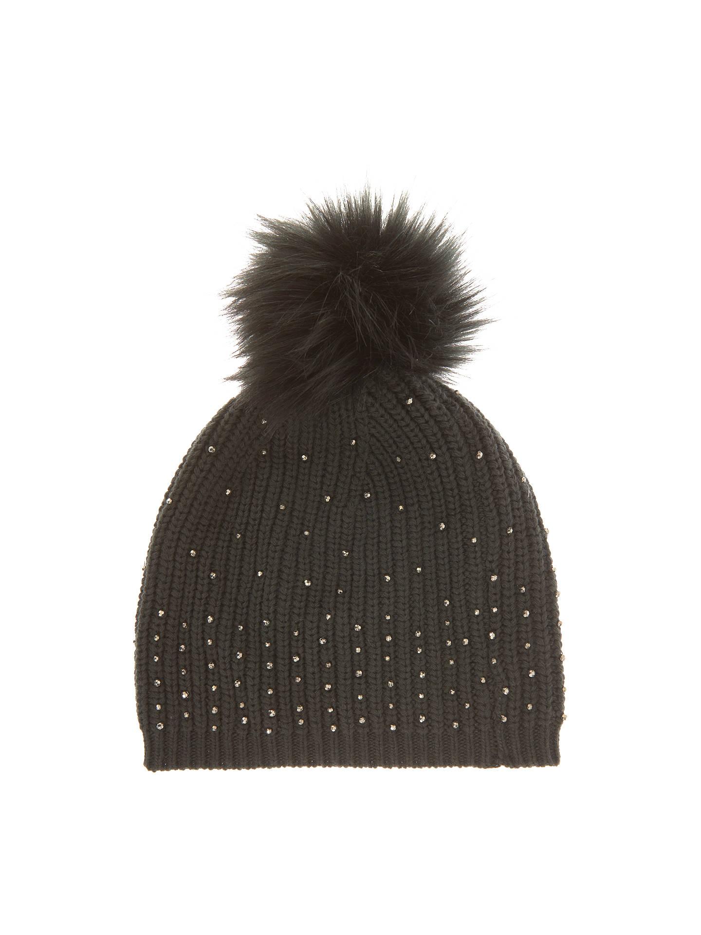 e9a0c4c562e Buy Mint Velvet Studded Pom Pom Hat