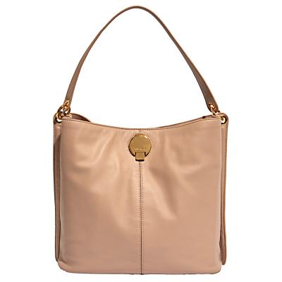 Karen Millen Slouchy Leather Shoulder Bag, Netural