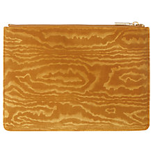 Buy Whistles Woodcut Velvet Medium Clutch, Yellow Online at johnlewis.com