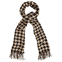 Buy Phase Eight Madison Dogtoot Scarf, Black/Camel Online at johnlewis.com