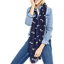 Buy Oasis Swan Print Scarf, Navy Online at johnlewis.com