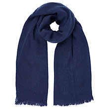 Buy Oasis Milan Textured Scarf, Navy Online at johnlewis.com