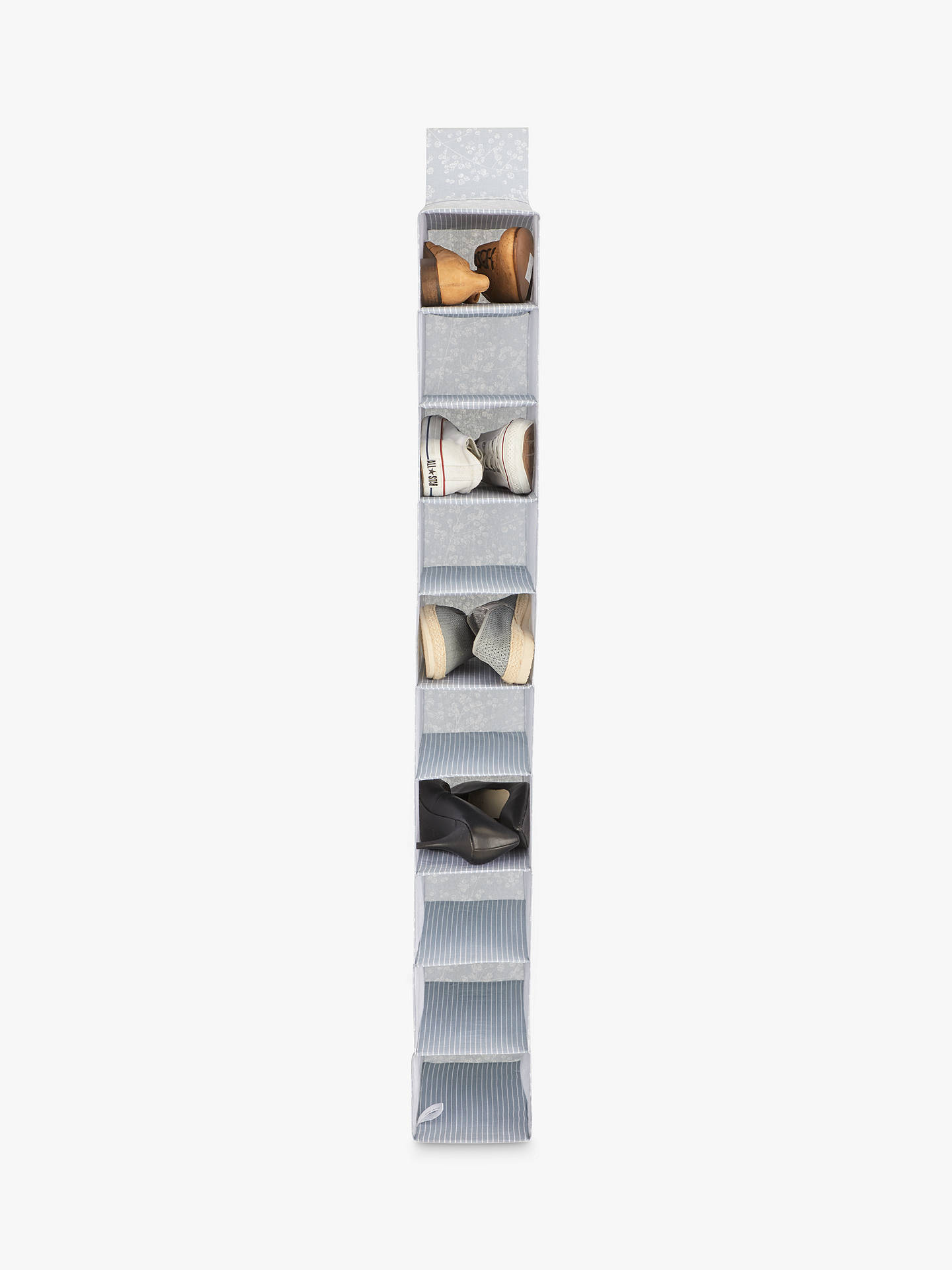 BuyJohn Lewis & Partners Floral Shoe Organiser, Light Grey Online at johnlewis.com
