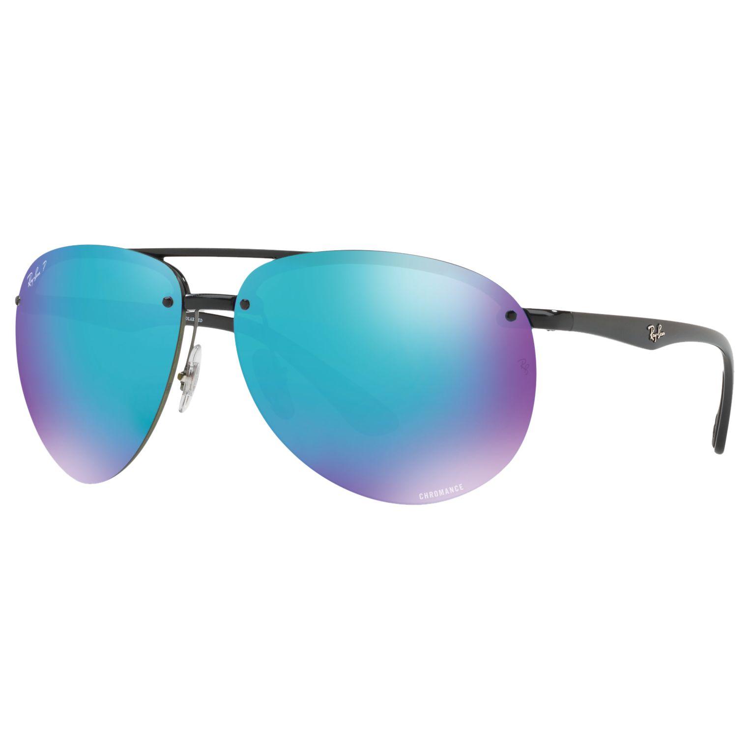 47d89e9d6 Ray-Ban RB4293CH Chromance Polarised Aviator Sunglasses at John Lewis &  Partners