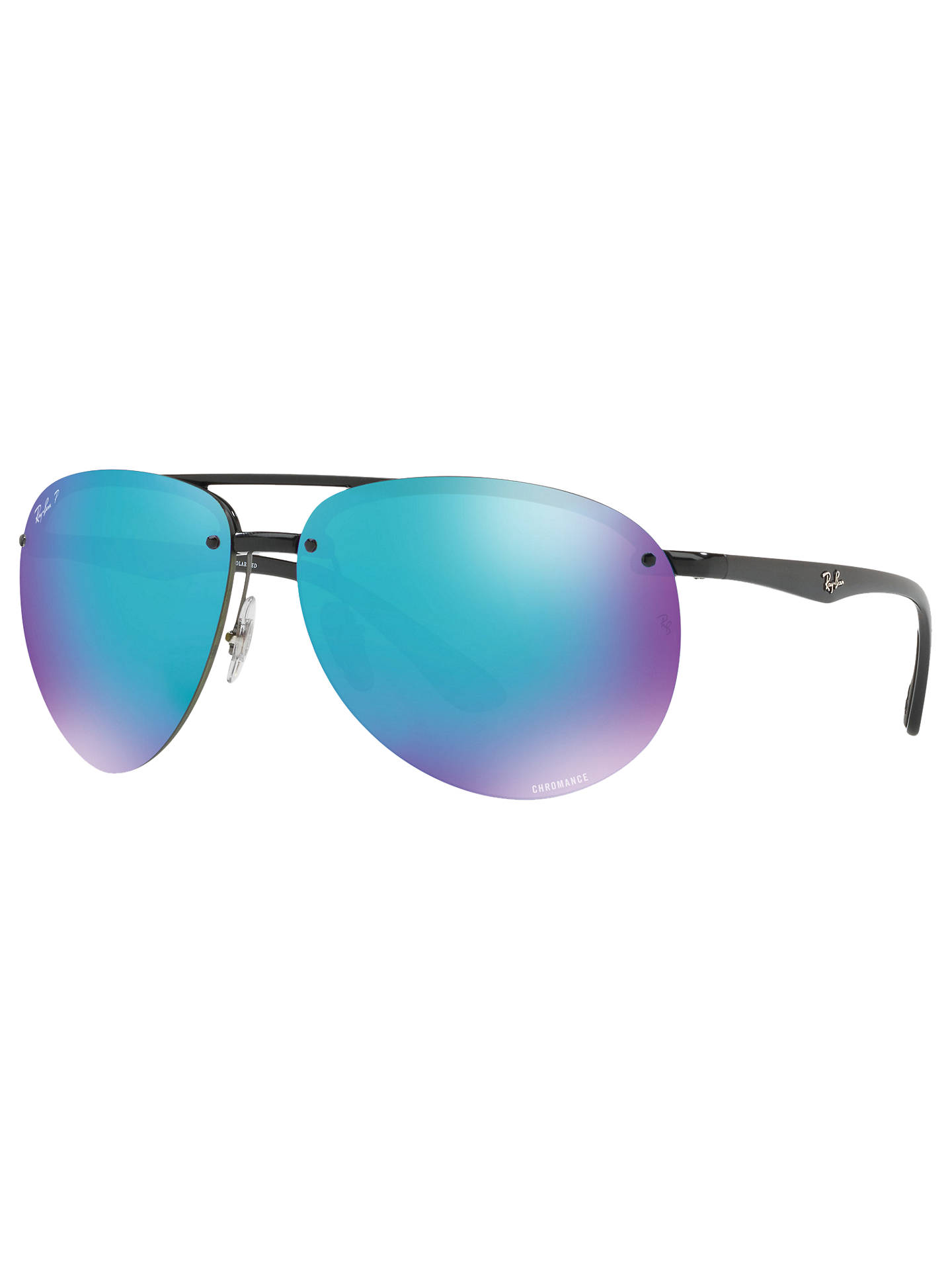 55fd443bd4 Ray-Ban RB4293CH Chromance Polarised Aviator Sunglasses at John ...
