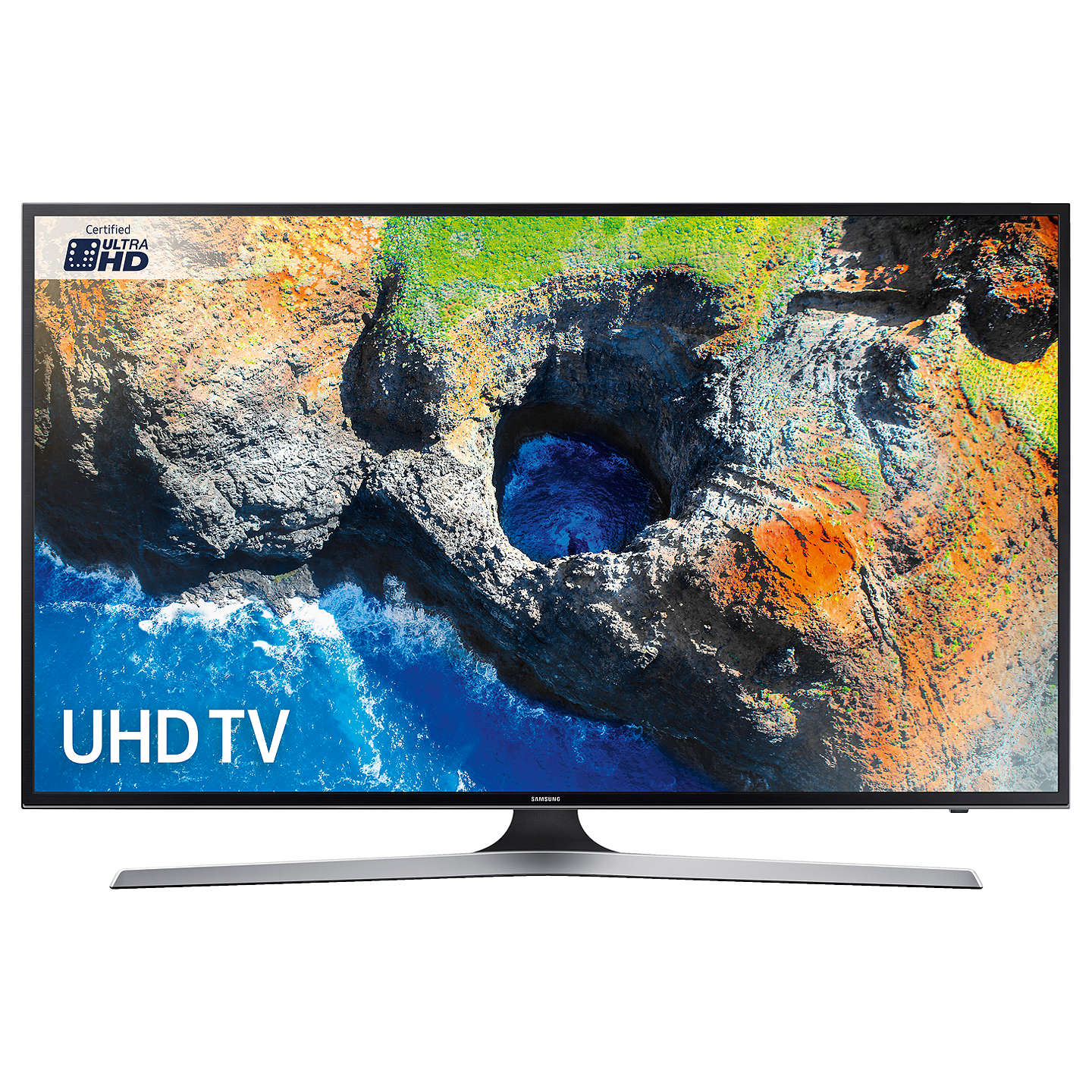 "BuySamsung UE55MU6120 HDR 4K Ultra HD Smart TV, 55"" with TVPlus, Black Online at johnlewis.com"