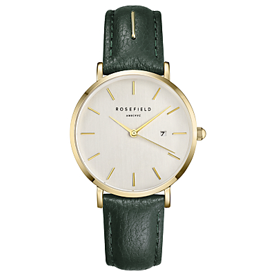 ROSEFIELD Women's September Issue Art Director Date Leather Strap Watch