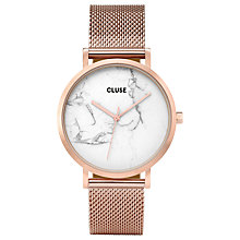 Buy CLUSE La Roche Bracelet Strap Ladies Watch, Rose Gold/Marble Online at johnlewis.com