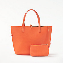 Buy John Lewis Rachel Reversible Grab Bag, Orange/Tan Online at johnlewis.com