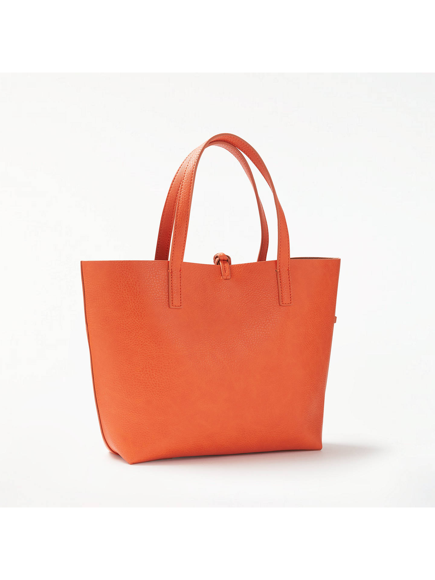 John Lewis Partners Rachel Reversible Grab Bag Orange Tan Online At Johnlewis