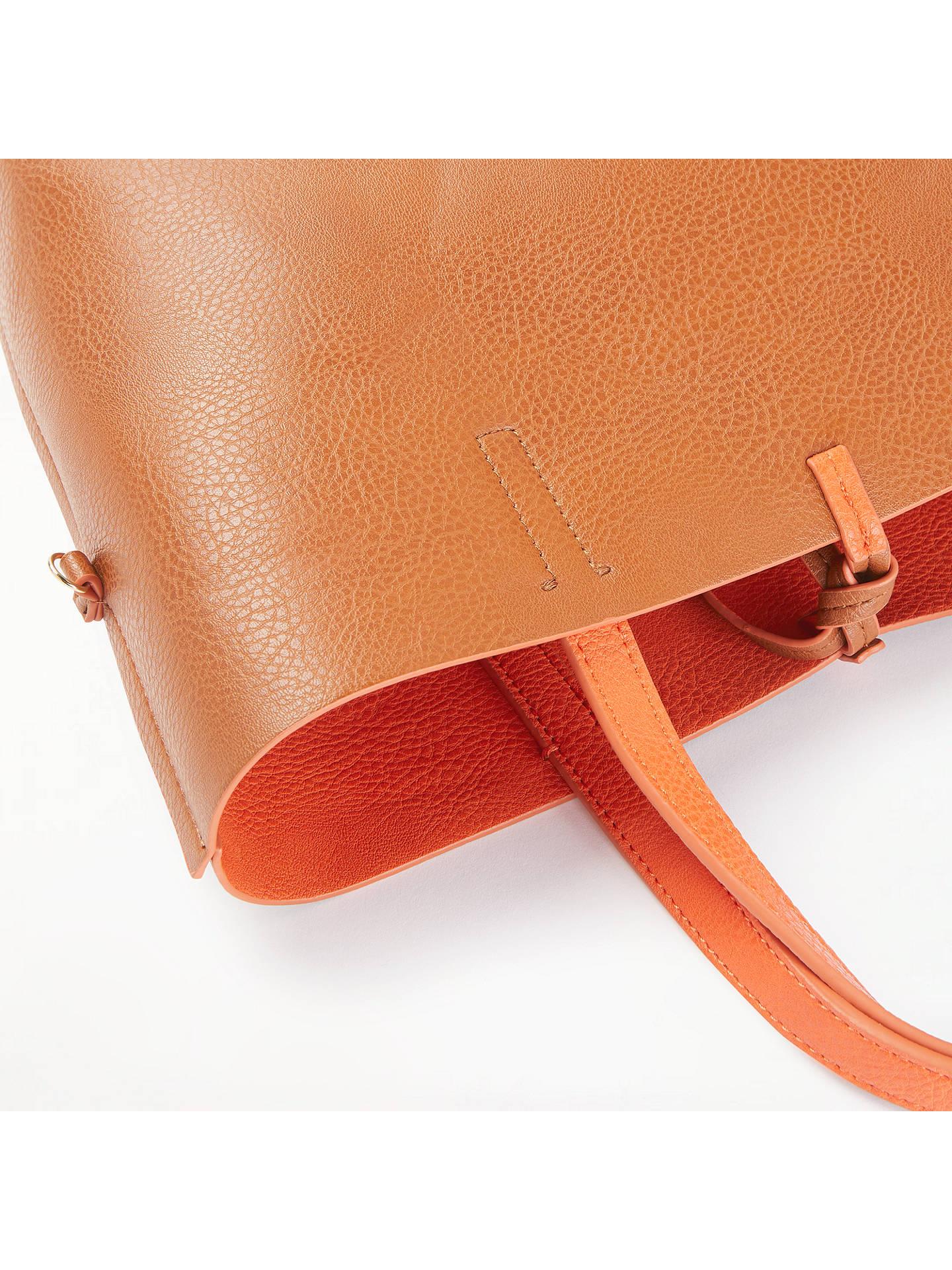 John Lewis Partners Rachel Reversible Grab Bag Orange Tan