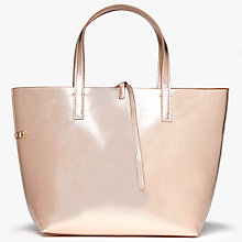 Buy John Lewis Rachel Reversible Grab Bag, Rose Gold/Tan Online at johnlewis.com