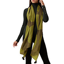 Buy Hobbs Lottie Big Dot Scarf, Khaki Mimosa Online at johnlewis.com