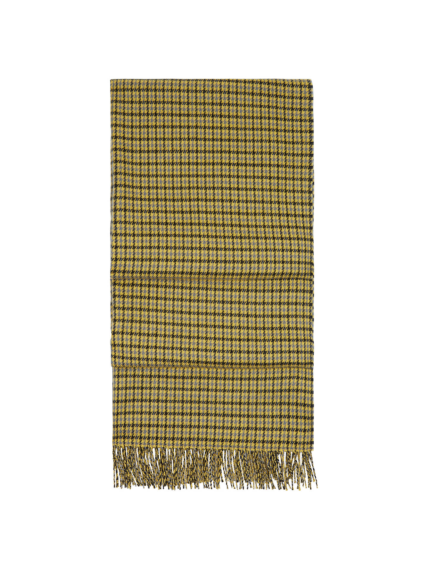 a65d739f5 Buy Hobbs Bryony Check Scarf, Yellow/Navy Online at johnlewis.com