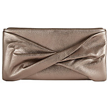 Buy Reiss Beau Leather Knot Evening Bag, Gold Online at johnlewis.com
