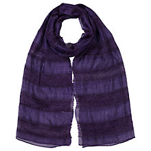 Buy East Silk Stripe Scarf, Pansy Online at johnlewis.com