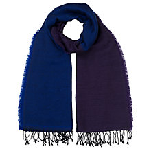 Buy East Colourblock Scarf, Navy/Plum Online at johnlewis.com