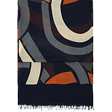 Buy Hobbs Edie Scarf, Navy/Multi Online at johnlewis.com