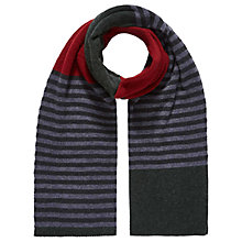 Buy Brora Cashmere Stripy Scarf Online at johnlewis.com