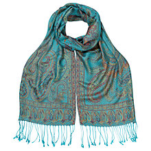 Buy East Mankolam Paisley Scarf, Turquoise Online at johnlewis.com