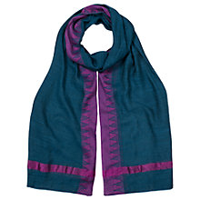 Buy East Berber Border Scarf, Teal Online at johnlewis.com