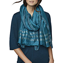 Buy East Slinky Lurex Scarf, Teal Online at johnlewis.com