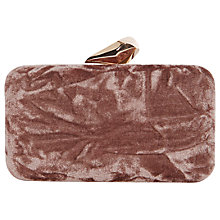 Buy Coast Wray Velvet Box Clutch Bag, Mink Online at johnlewis.com