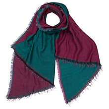 Buy East Two Tone Scarf, Forest/Spiced Plum Online at johnlewis.com