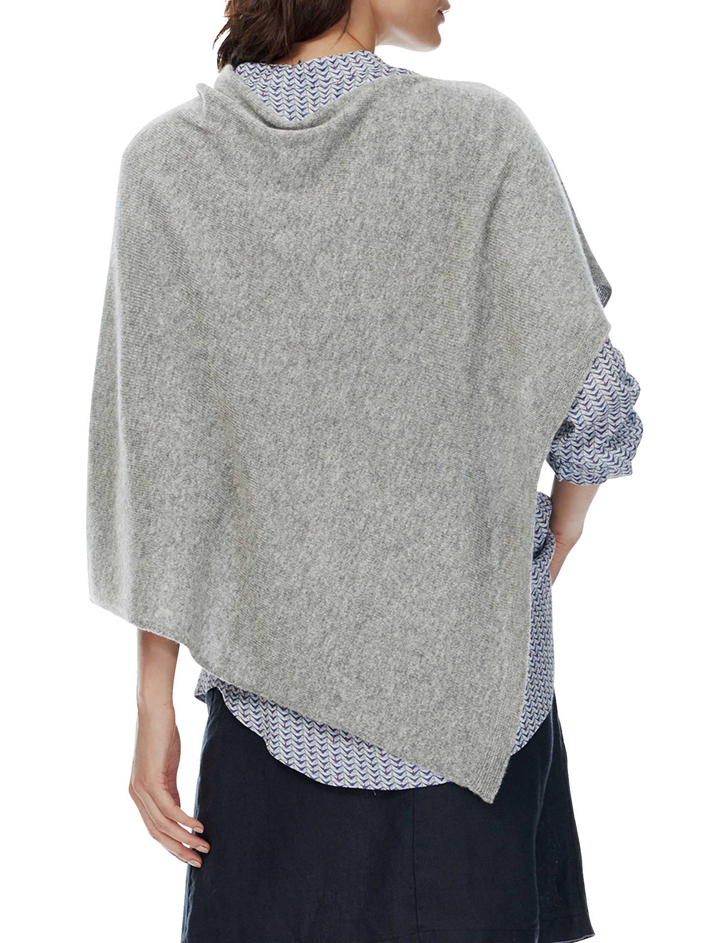 Buy Brora Cashmere Gauzy Knit Poncho, Silver Online at johnlewis.com