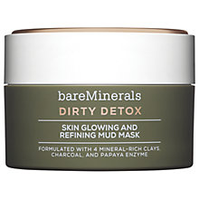 Buy bareMinerals DIRTY DETOX™ Skin Glowing & Refining Mud Mask, 58g Online at johnlewis.com