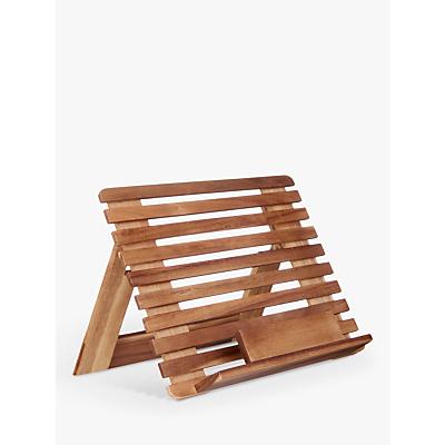 John Lewis & Partners Acacia Wood Slatted Cookbook Stand