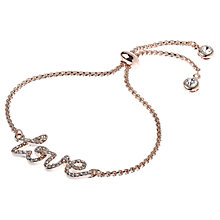 Buy Adele Marie Cubic Zirconia Pave Love Bracelet Online at johnlewis.com