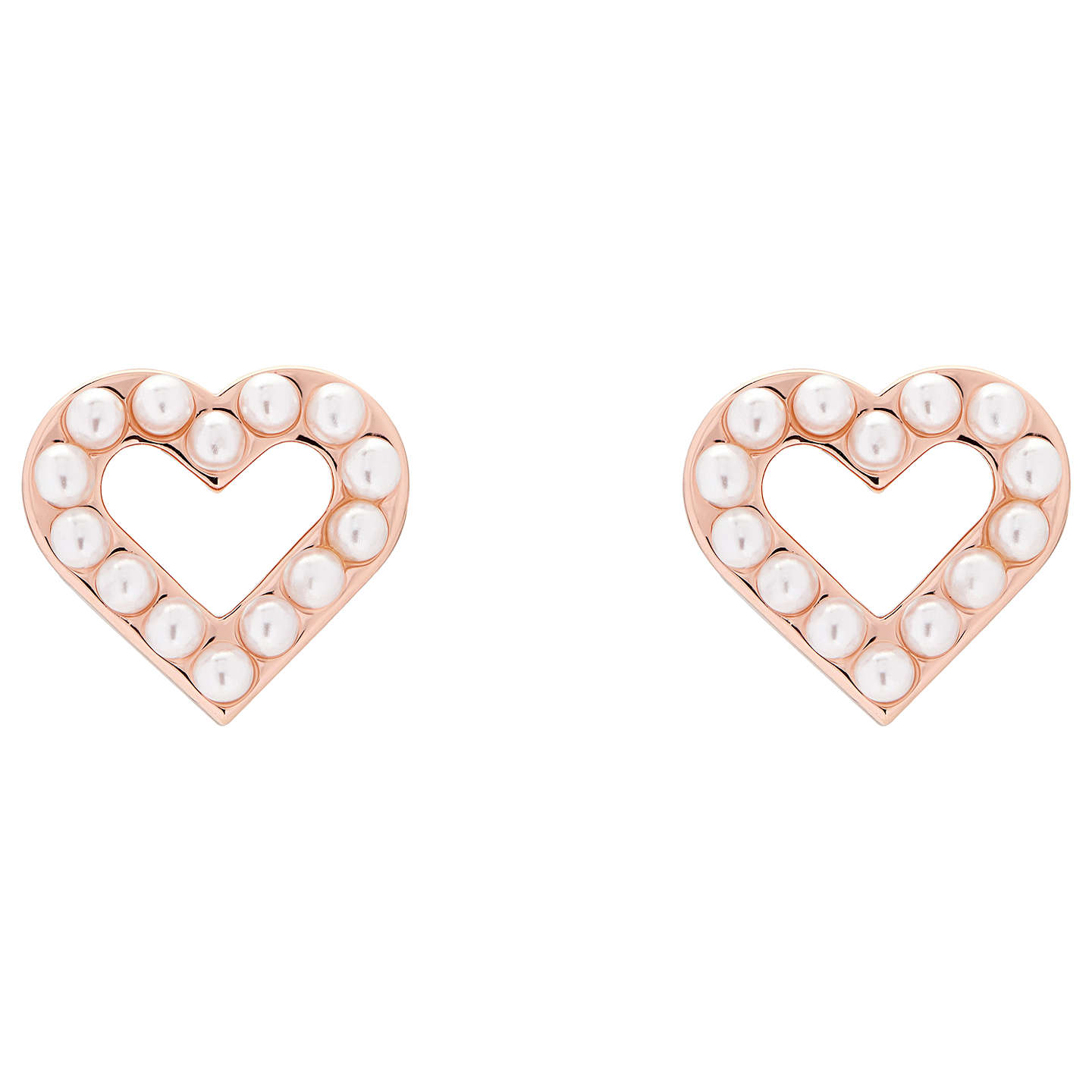 rose happiness stud gold earrings en boutique heart